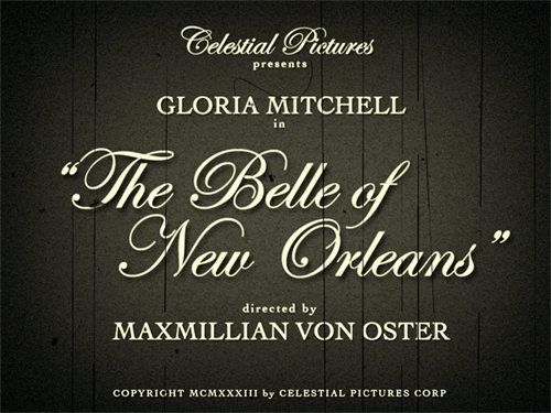"Still from ""The Belle of New Orleans"" trailer (1933)."